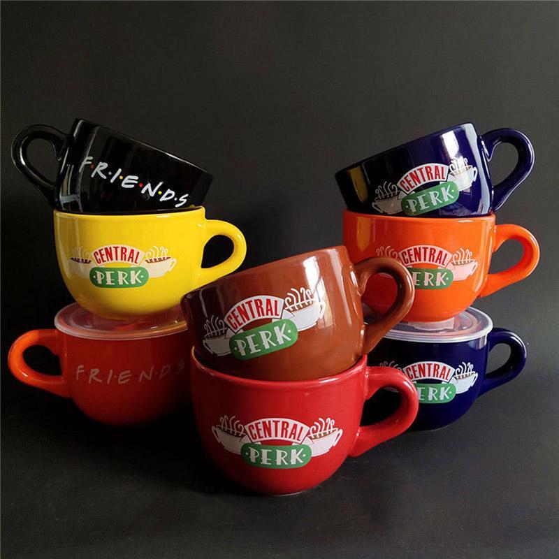 New Friends TV Show Series Central Perk Ceramic Coffee Tea Tea Friends Central Perk Cappuccino Taza Aniversario Regalos para amigos
