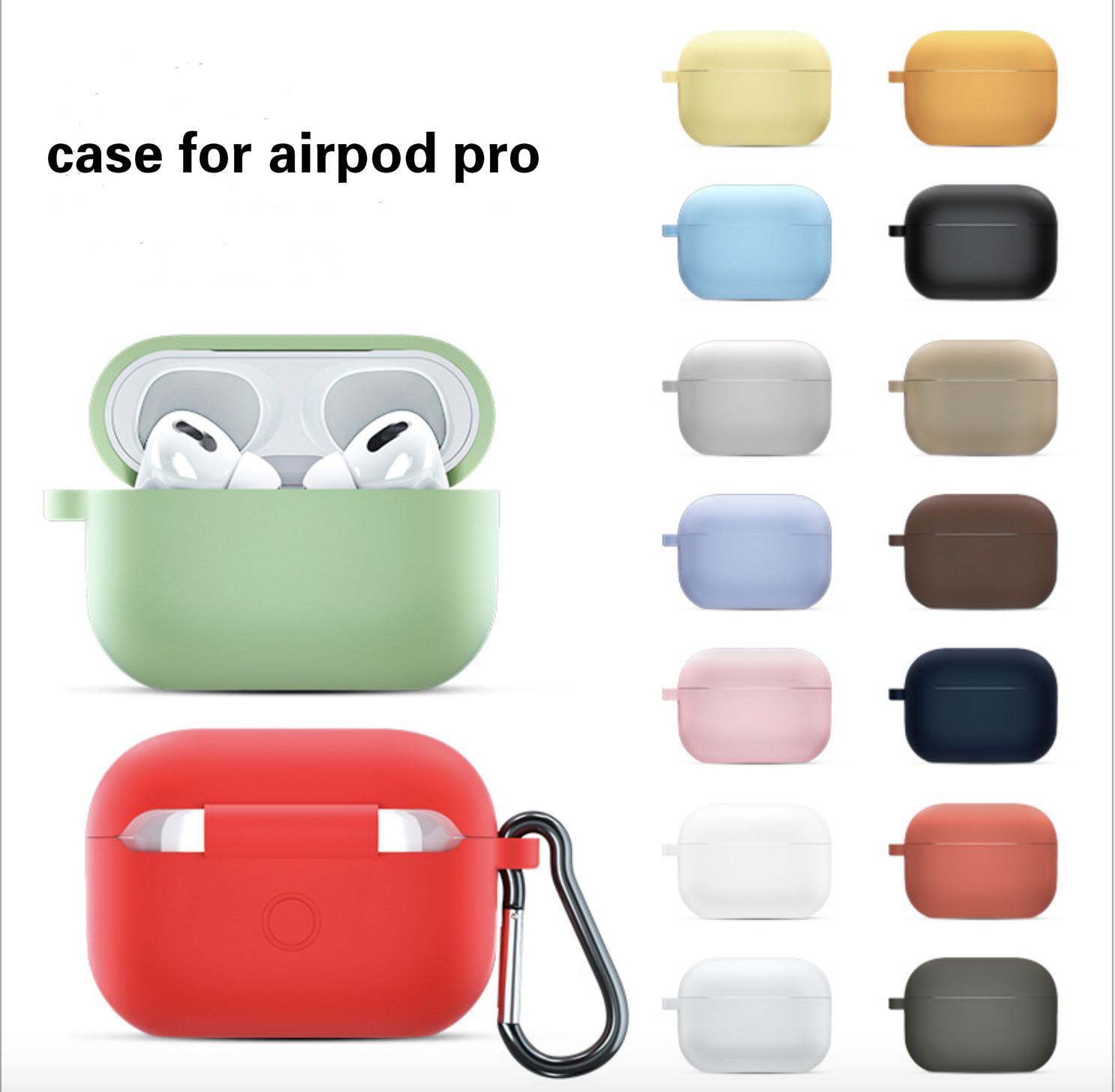 غطاء حماية سيليكون الملونة ل iPhone airpods اللاسلكية سماعة سيليكون airpod حامي حقيبة القضية