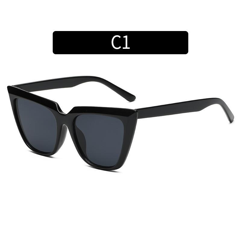 Cat Eye Женщин Солнцезащитные очки Trend Красочные Улица Стрельба Все-Матч Мода Солнцезащитные Очки Мужчины Abay Brand Travel Black UV400 Oculos