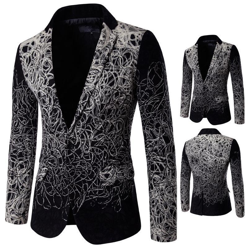 Мужская одежда для ношения Верхняя одежда Оптовая Односнабжение Европейского американского костюма Dropshipping Fashion Wedding Blazers