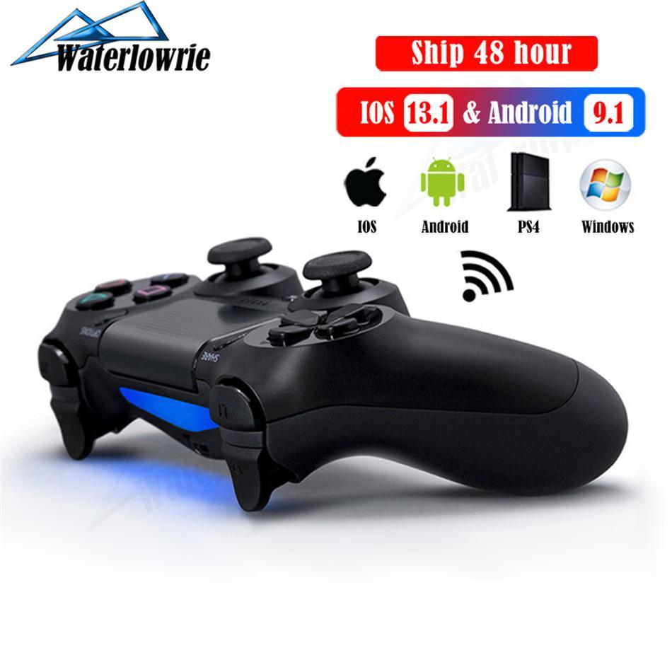 Controlador para PS4 PC Mac iphone telefone Android, sem fio Bluetooth Gamepad para PlayStation 4 Controle Dualshock Console Joystick Y1123