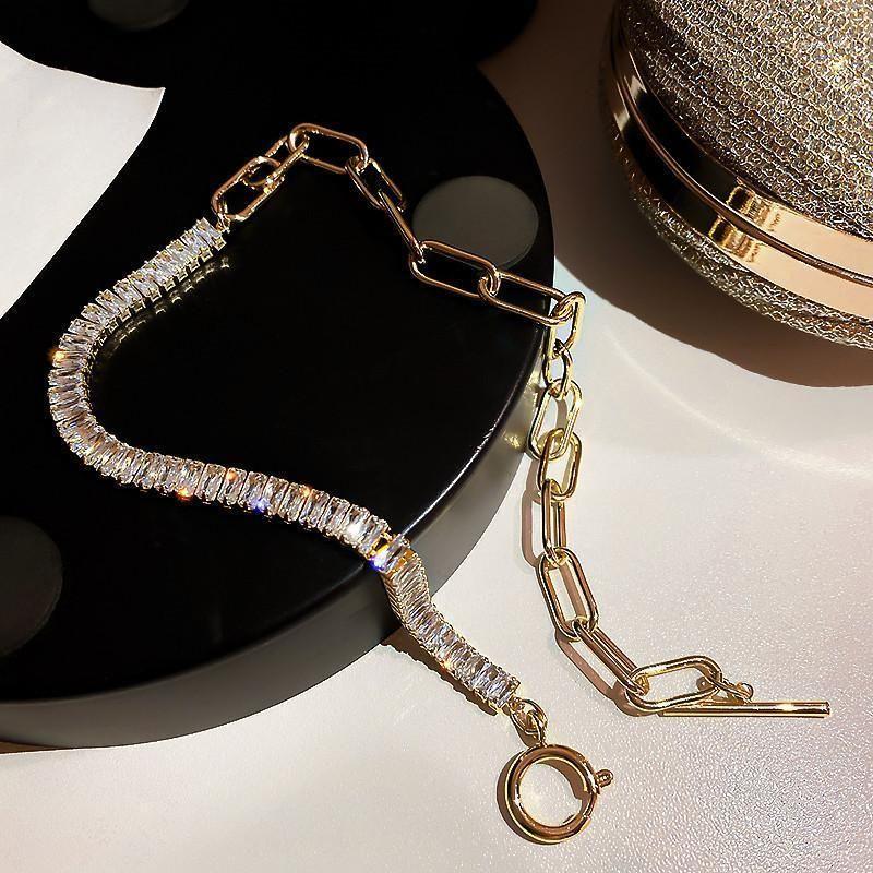 Chokers Нерегулярные кристаллические цепные ожерелье для женщин Топ дизайнерские творческие средства роскошные ювелирные изделия инкрустированные высококачественные блестящие циркона Party1