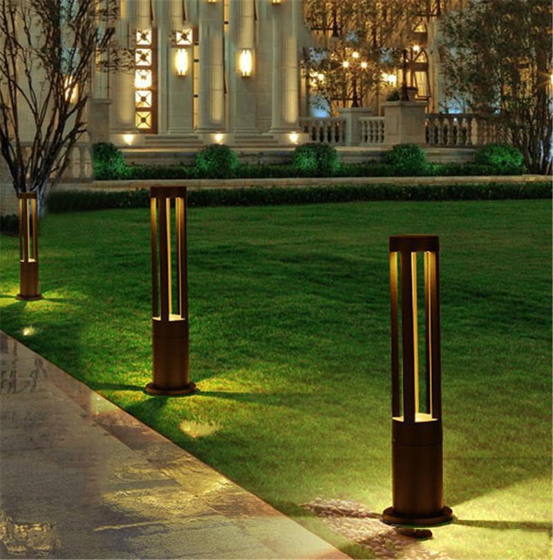 LED Rasenlampen Aluminium Gartenlichter Outdoor Rasen Lichter Outdoor Wasserdichte Landschaftslicht Garten Villa Rasenlicht