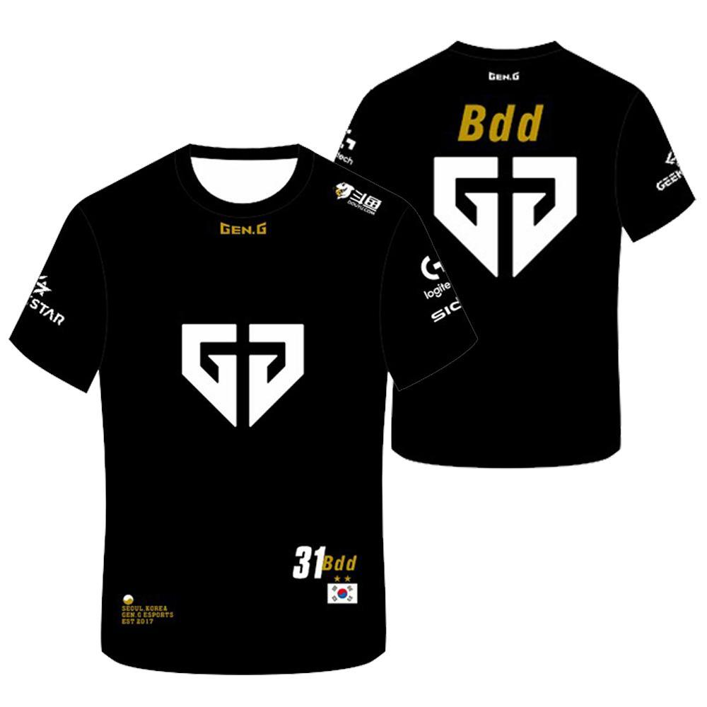 2020 LOL LCK Gen.G Jerseys Customized Name Bdd Clid T Shirt Fans Jersey Men Women T-shirt Custom Tee Shirt Homme Men Clothing Q1116