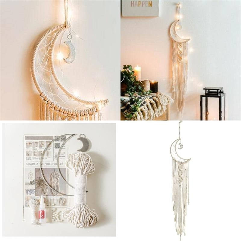 Weave Weave Wall Hanging FAI DA TE Nord Europa boemia artigianale decorare arastry luna camera da letto casa arte vendita calda 15 8xr m2