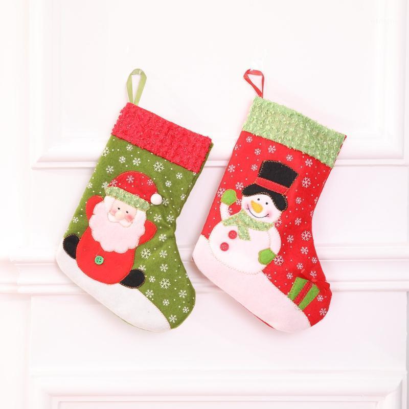 Снежинки Рождественские чулки Рождественские чулки Детские подарочные сумки Дерево украшения WH1