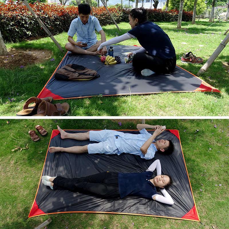 Açık Kamp Mat Taşınabilir Mini Cep Plaj Bahçe Pedi Ultralight Çadır Ayak İzi Battaniye Su Geçirmez Piknik Yer Sac