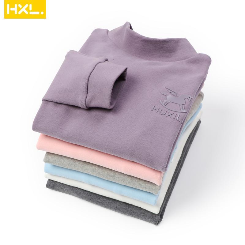 2020 Herbst Winter Kinder Bottoming Hemden Thermal Unterwäsche Langarm Baumwolle Dicke Baby Jungen Mädchen T-Shirt Kinder Tops C1226