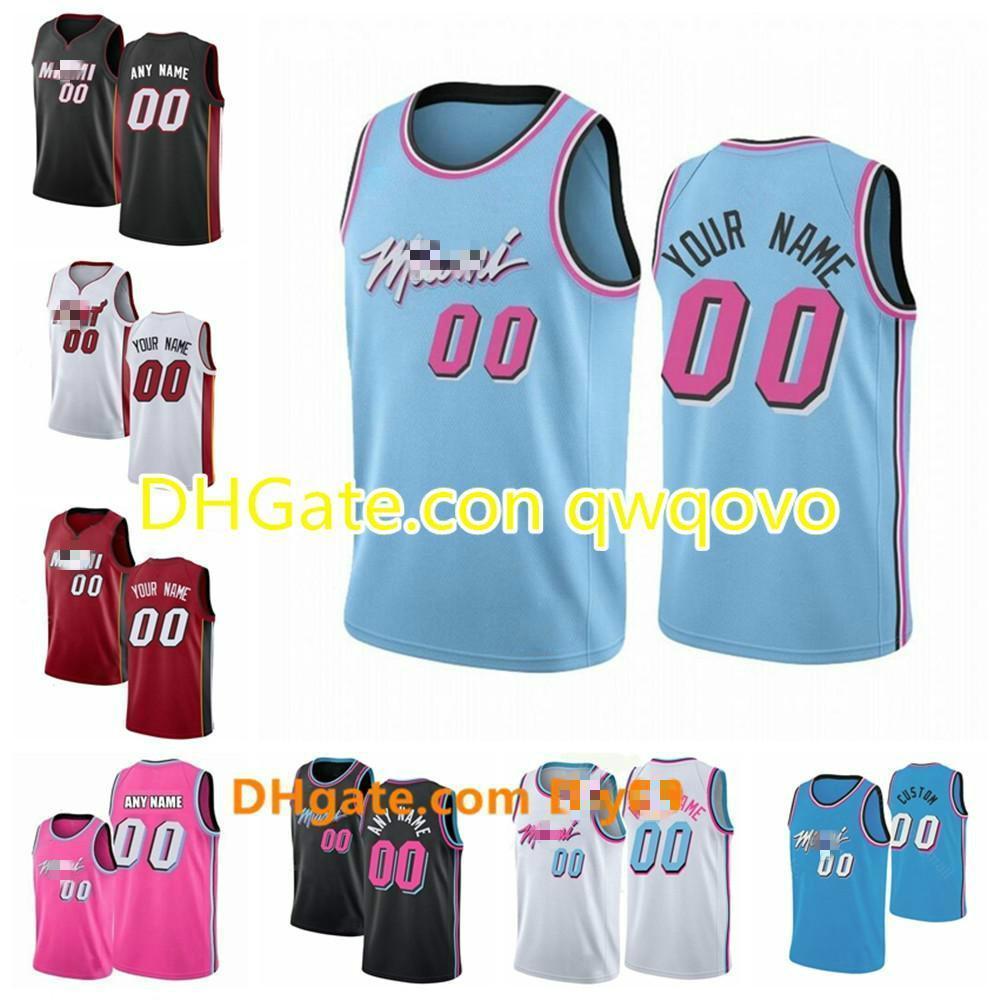 NCAA personnaliséeMiamiChaleur Jersey Hommes Femmes Kid Custom Nom Numéro 3Wade 21 Whiteside 22 Butler Basketball Jerseys Blanc Blanc