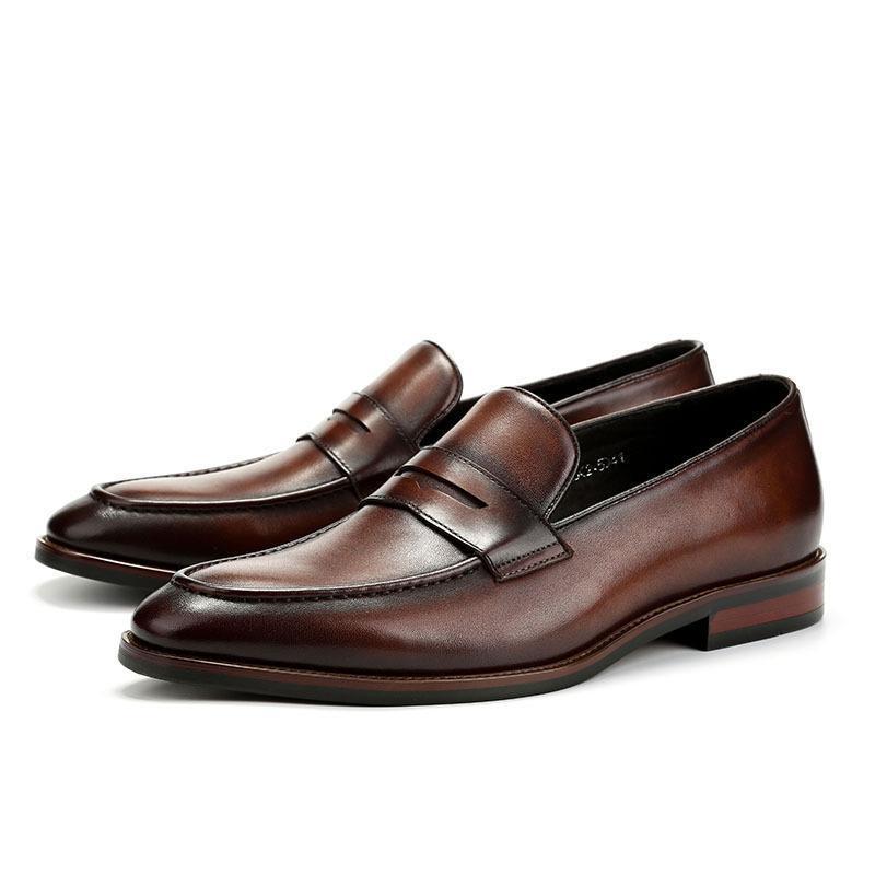 Qiu Dong Temporada Temporada Ocio Hombres Británicos Mocasines Británicos Moda Moda Zapatos de cuero para hombre Zapatos Traje de Ayuda Baja A Mano