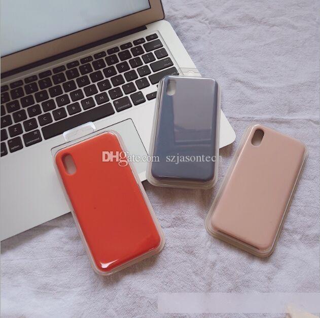 İPhone6s 7 8 artı x XR XS Sıvı Silikon Telefon Kılıfı Tampon Darbeye Kapak Perakende Ambalaj