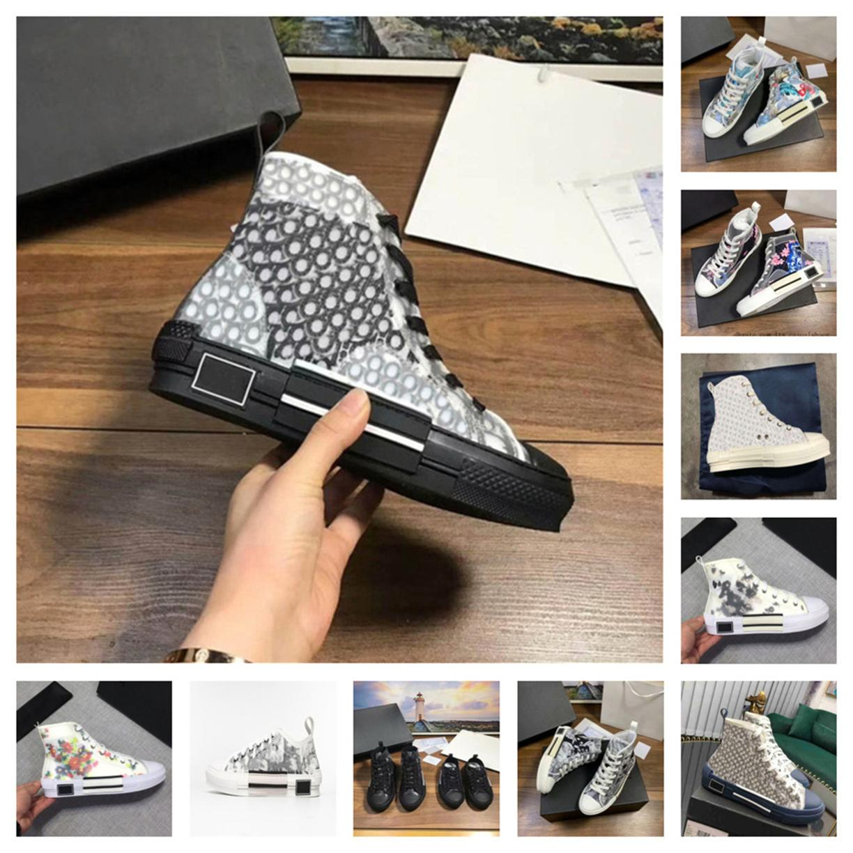 2020 new limited edition custom printed canvas shoes, fashion versatile high and low shoes, with original packaging shoe box delivery 50k