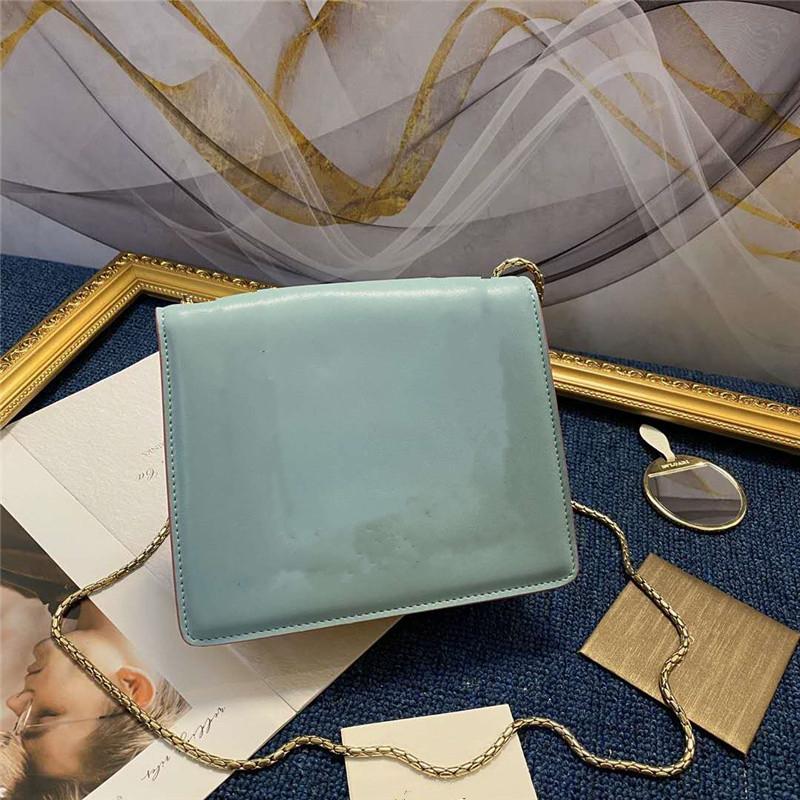 Цепные дизайнеры заслонки головы дамы женские сумки двойные сумки плечо женщины шипованные квадратные кроджом [] нить сумки роскоши сумки ремень кожа P Qbkx