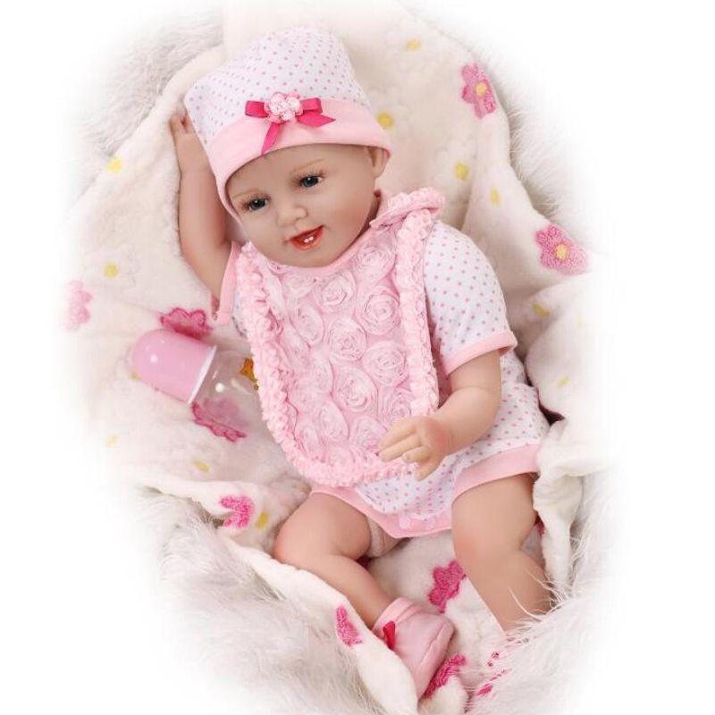 """55 см Мягкая силиконовая кукла Reborn 22 """"Игрушка для новорожденных игрушек на день рождения подарок спать досрочное образование"""