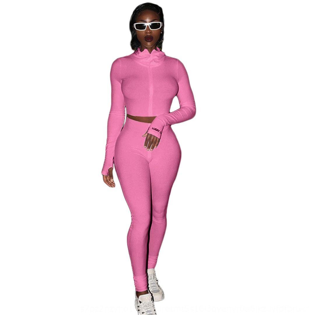 LK1A женские наряды длинные продажи 2 шт. Комплект спортивные спортивные брюки леггинсы наряды толстовка рубашка спортивный костюм горячего рукава KLW44