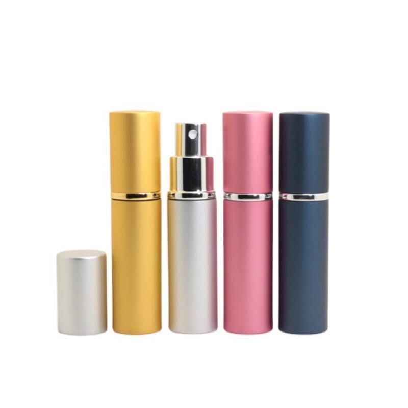 5ml mini spray perfume per il perfumo riutilizzabile vuoto contenitore cosmetico di disinfezione, rugiada pura, atomizzatore bottiglie ricaricabili in alluminio EAA1
