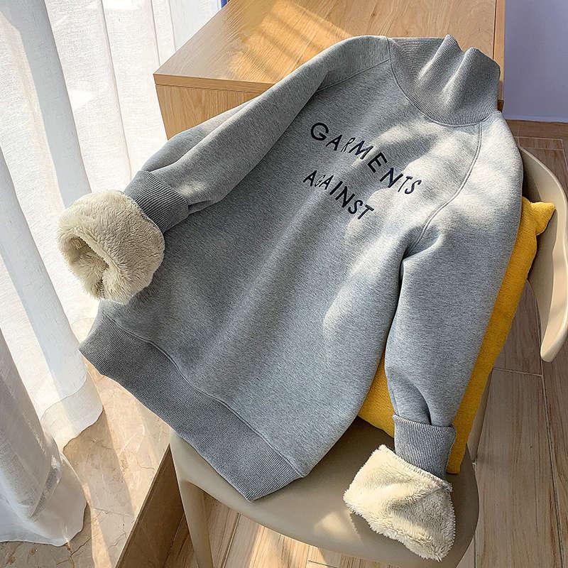 Suéter de cuello alto espesado para mujeres otoño e invierno 2020 nuevo coreano suelto de estilo extranjero abrigo de cachemira para mujer