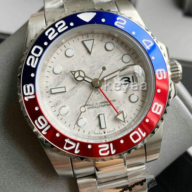 Yeni Seramik Çerçeve GMT Erkek Mekanik Paslanmaz Çelik Otomatik Hareketi 2813 Lüks İzle Erkekler Moda Saatler Erkekler Tasarımcı Saatı