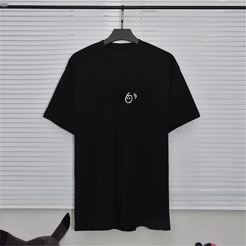 Erkekler Yeni Moda Yuvarlak Boyun Gevşek T Gömlek Kadınlar Gezegen Baskı Kısa Kollu T Gömlek Boyutu S-L