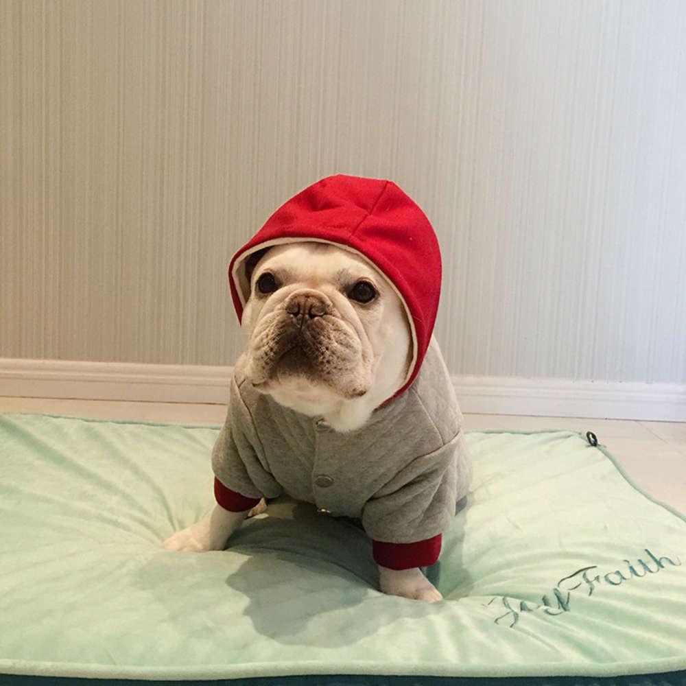 Fadou Vêtements Animaux Animaux Pet Double épaisseur Bouton Cardigan Bouton Cardigan Cardigan Fat Dog