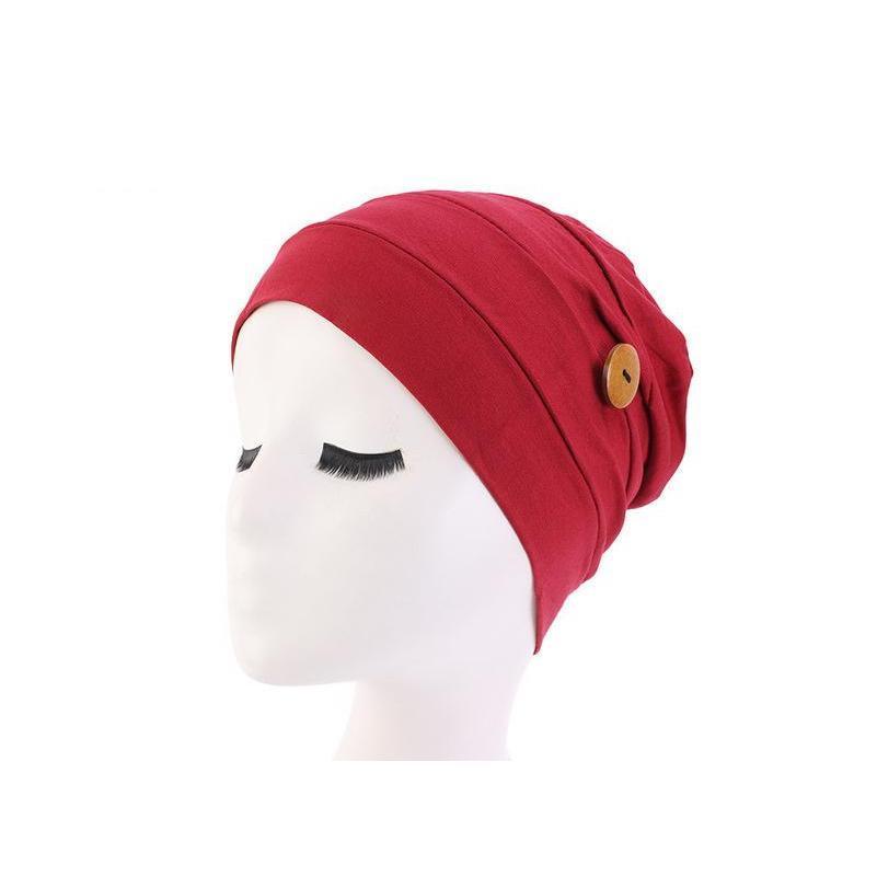 NOUVEAU Headscarf musulman à turban élastique avec chapeau de boutons Femme Headscarf Bonnet Hijabs Inner Hijabs Cap Musulman Hijab Femm Wmtrlc Homes2007