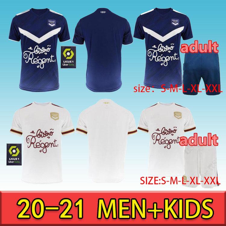 الرجال الاطفال كيت 2021 جيروندس دي بوردو لكرة القدم جيرسي مايلوت دي القدم 2020 بوردو برايند S.KALU KAMANO BENITO القمصان الأساسية لكرة القدم