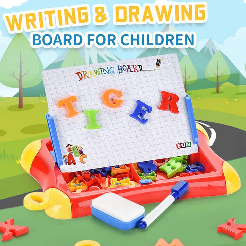 Yazma Manyetik Çizim Kurulu Tablet Boyama Oyuncaklar Çocuk Boyama Seti Çocuk Alfabe Numarası Eğitim Öğrenme Hediye