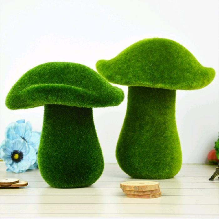 Dekoratif Çiçekler Çelenkler Dekorasyon Yapay Yeşil Moss Mantar Tufting Masa Ekran Dekor Çiçek Noel ve Weddi için Sahte Çim