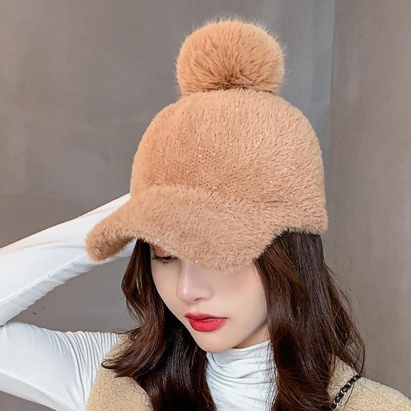 202The Yeni Moda Marka Yüksek Kaliteli Yün Beyzbol Şapkası Kalın Sıcak Katı Renk Topu Kap Şapka Erkekler ve Kadın Şapka Toptan Kap.