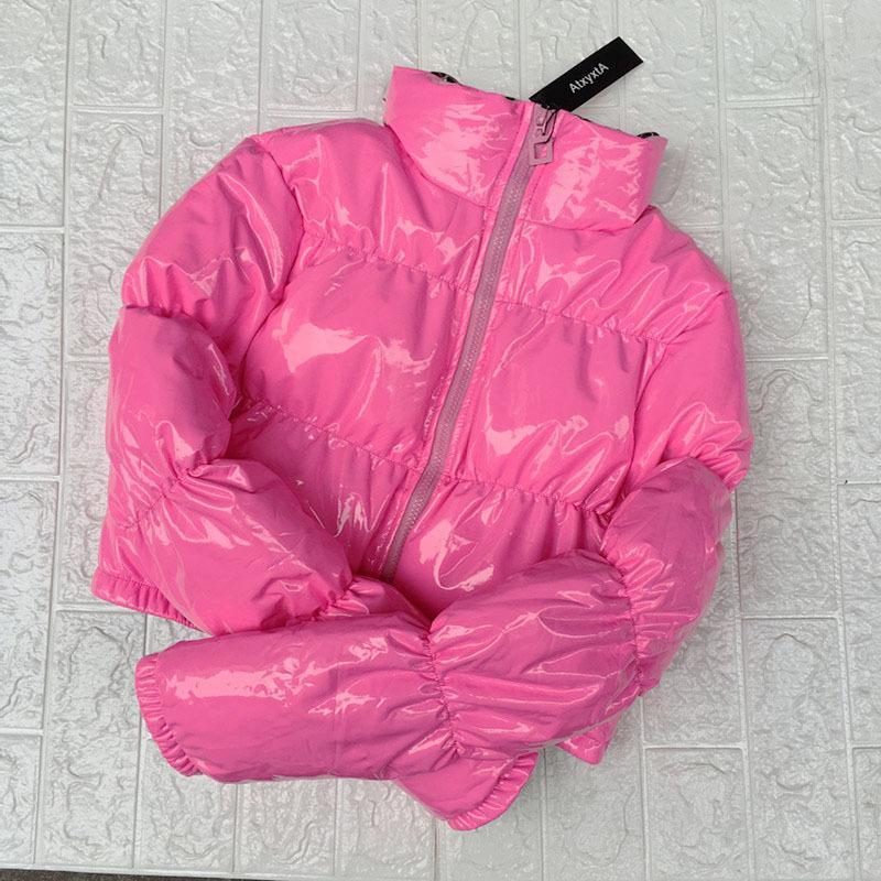 ATXYXTA CULTPED CHAPER PULCURAL DE LA BURBUJA Abrigo de burbujas de invierno Parka Mujeres Nueva Ropa de Moda Negro Red Pink 201110