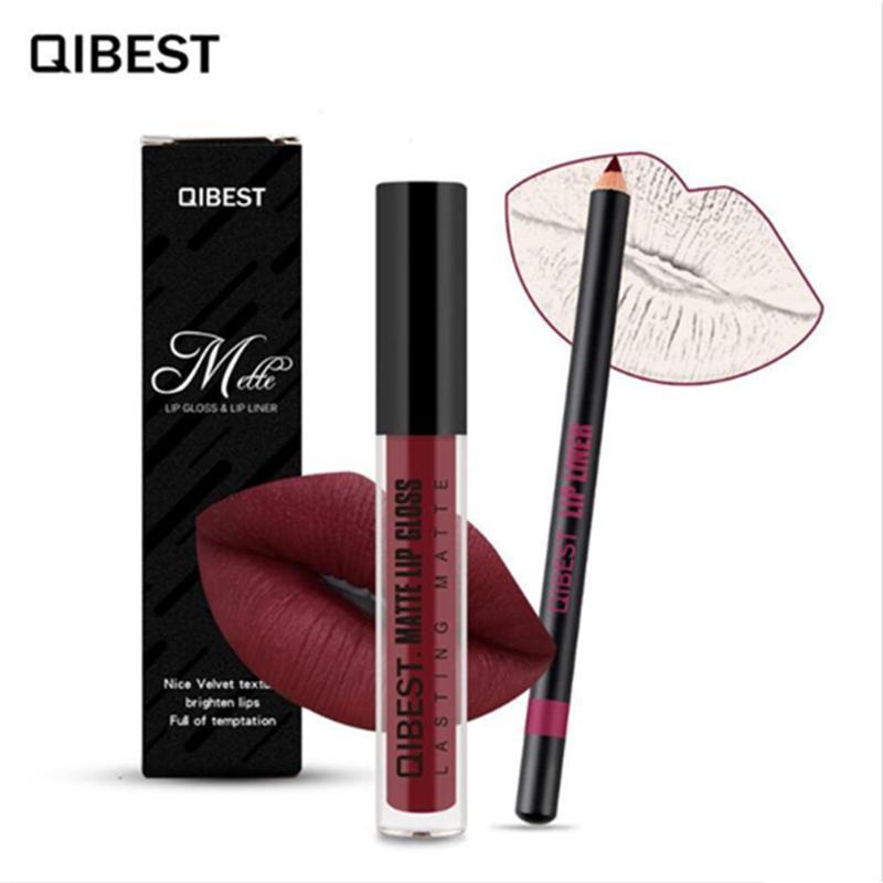Lip Gloss 10-Couleur Maquillage Matte Lipstick Doublure Ensemble De Longues Cosmétiques Hydratant Cosmétiques imperméables Sexy Lèvres rouges