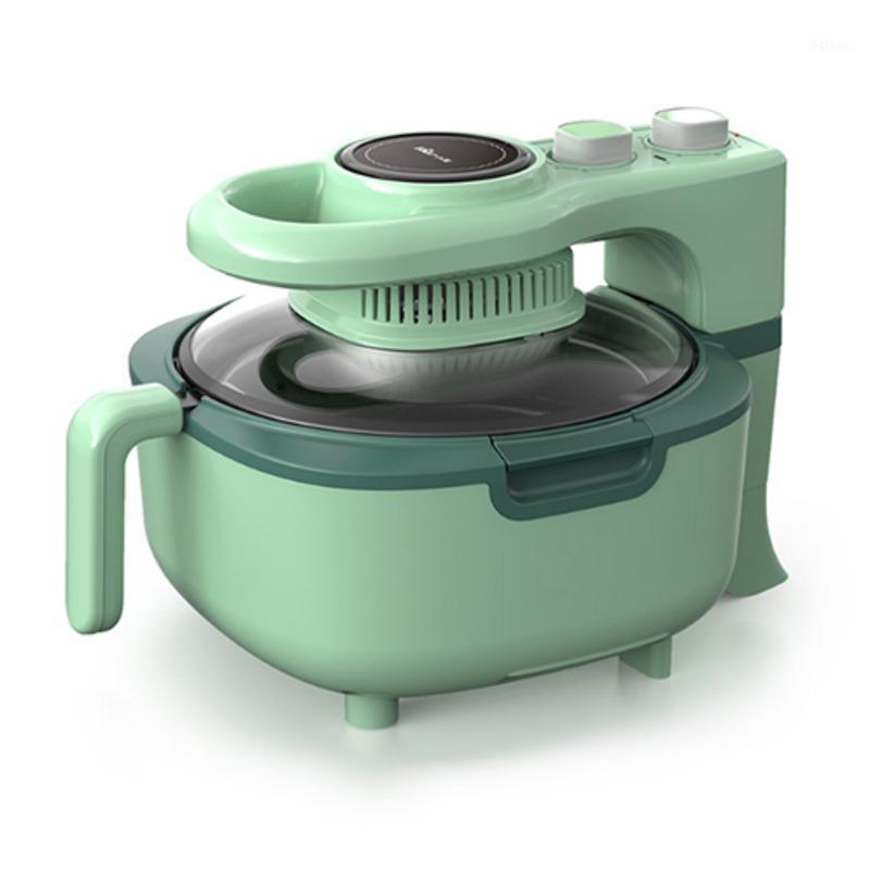 Air fritadeiras frigideiras com tampa de vidro visível, família fácil de limpar a placa de aquecimento, máquina elétrica sem óleo automática, Doub1