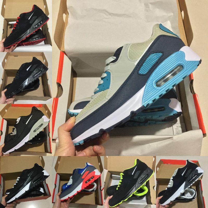 جودة عالية 2021 جديد وسادة الهواء 90 الاحذية رخيصة الرجال النساء أسود أبيض بيج Air90 أحذية رياضية كلاسيكية 90 ثانية في الهواء الطلق المدرب الأحذية الرياضية