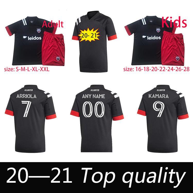 2020 20 21 DC United Home Soccer Jersey MLS Adult+Kids Kit ...