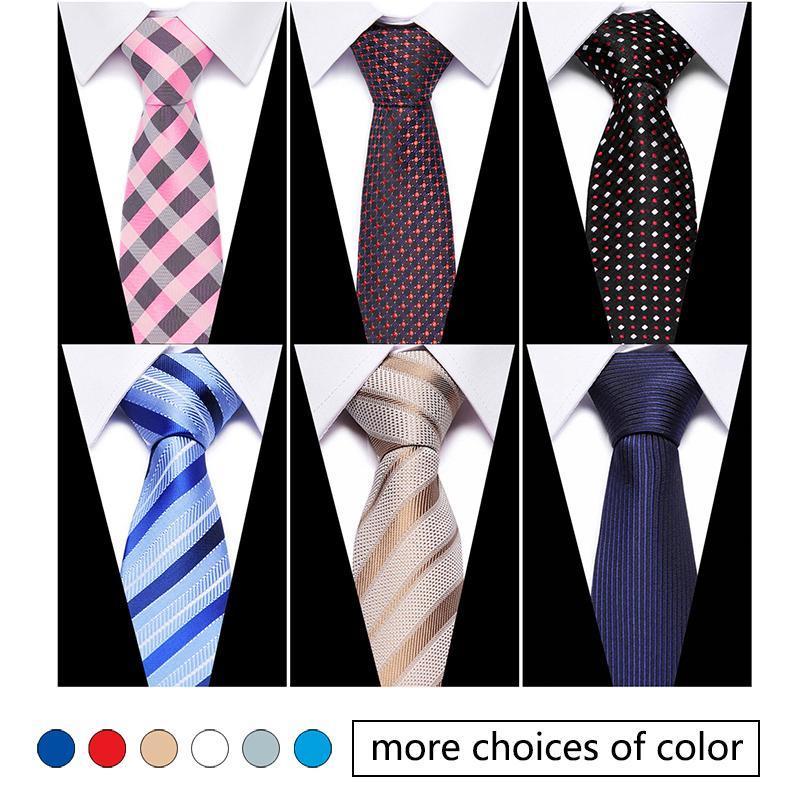 Nova chegada 100% homens de seda gravata 7,5 cm Manta rosa clássico negócio gravata para homens terno para festa de casamento gravata fábrica venda
