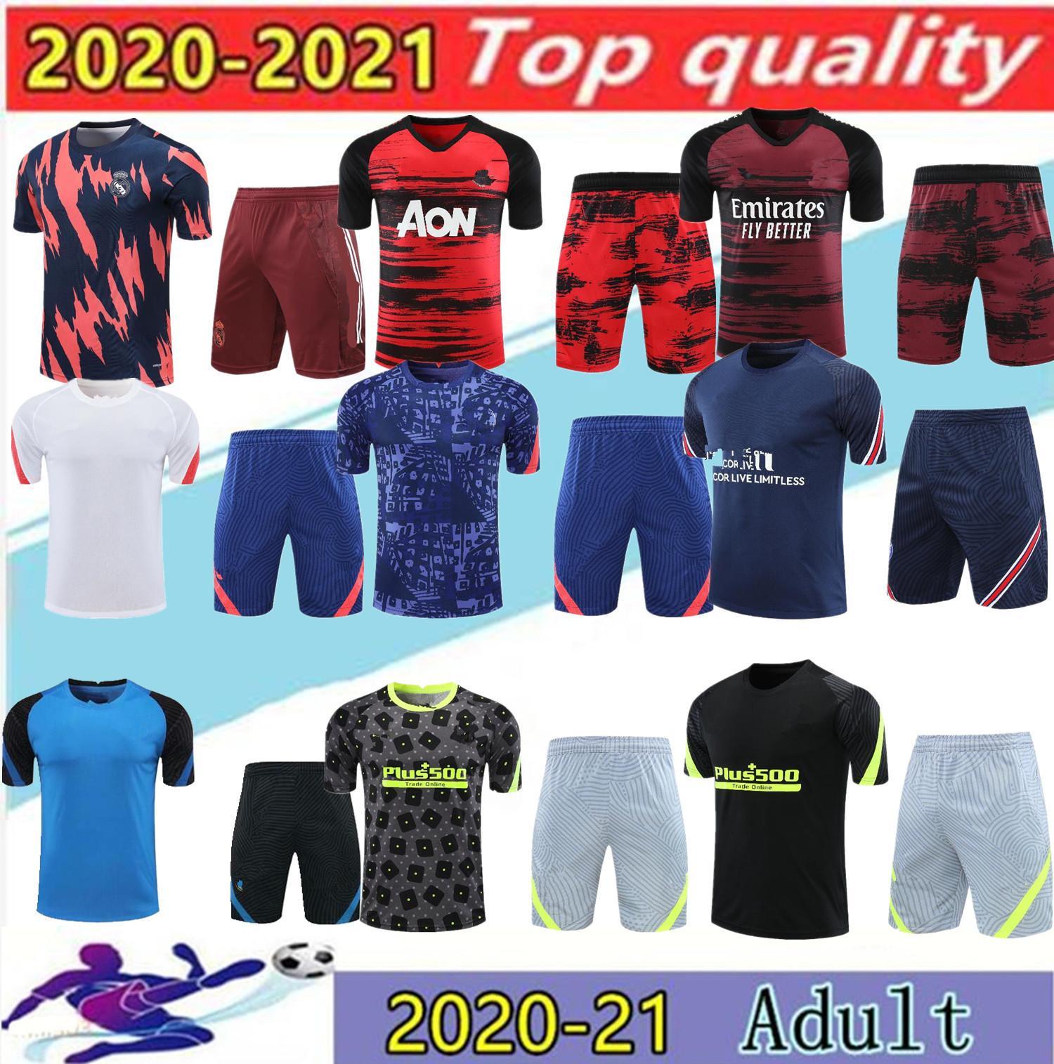 2020 레알 마드리드 파리 축구 키트 MBappe Tracksuit 20/21 파리 에어 Jordam 3/4 Survetement 축구 슈트 스포츠웨어