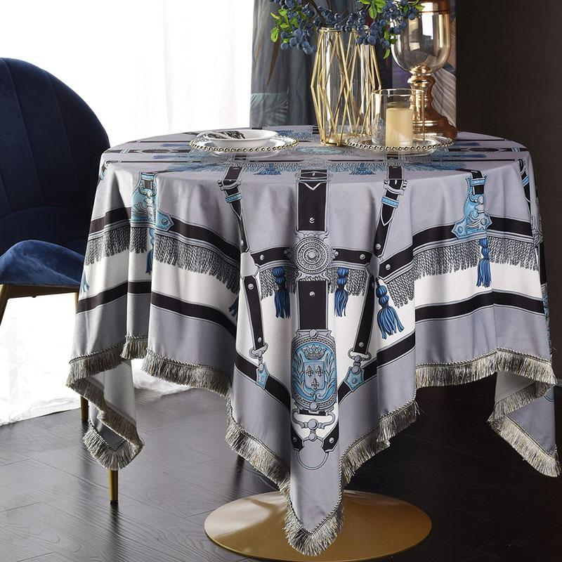 New Square Round Tablecloth Fashion Household Table Cloths Home European Luxury Court Decoration tassel table cloth