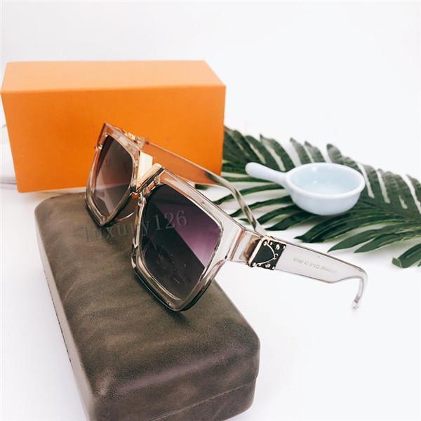 2021 Classic Mode Lunettes de soleil de qualité supérieure de luxe pour hommes et femmes universelle classique mode carré cadre lunettes de soleil dans la boîte