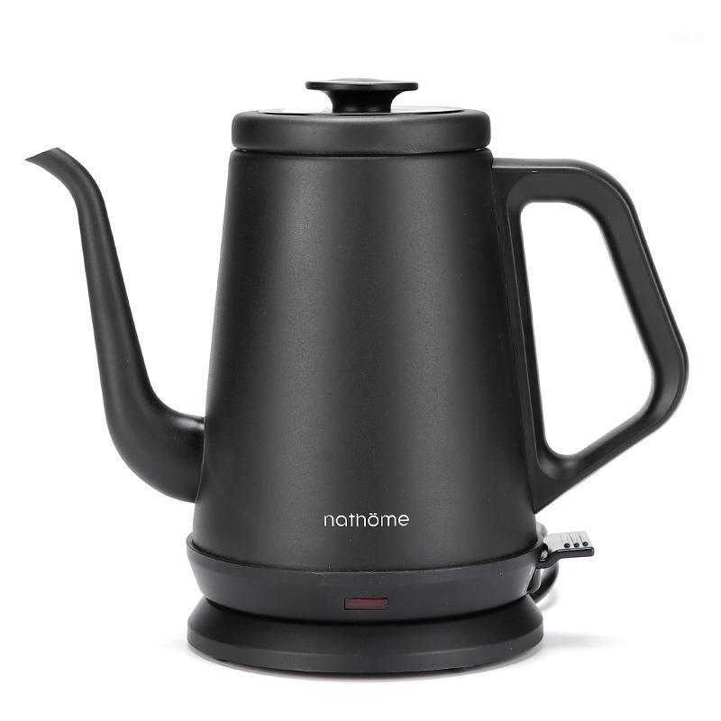 Электрические чайники NSH1810 Бытовая чайник 1000W 1000 мл автоматическая мощность от лебединой шеи кофейник 304 нержавеющая сталь1
