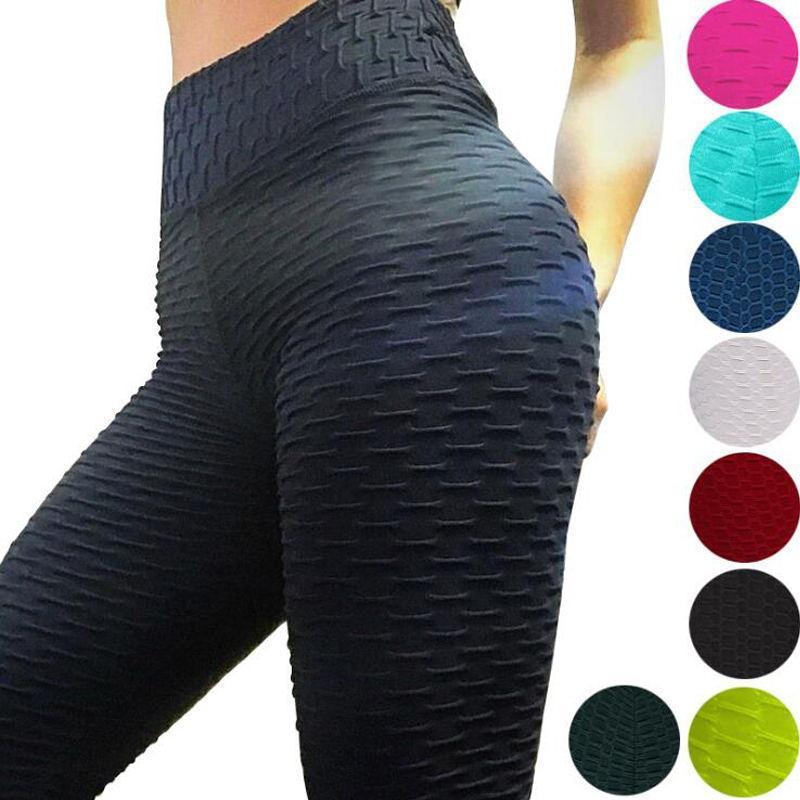 2020 sexy frauen yoga hosen fitness sport leggings jacquard sport leggings weibliche laufende hosen hohe taille yoga enge sporthose kcuv
