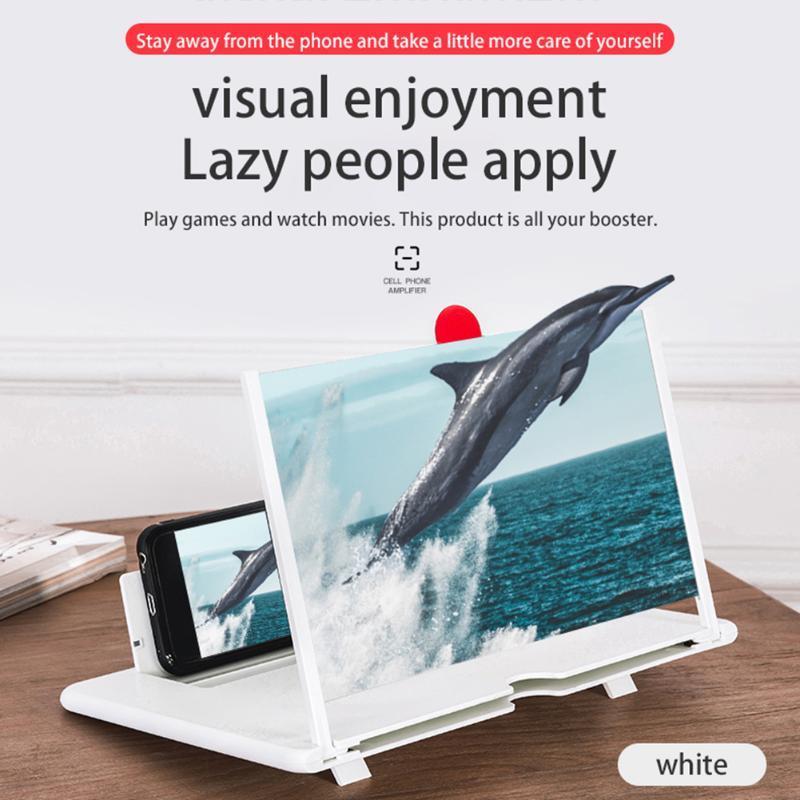 Nuovo screen del telefono cellulare da 12 pollici Magnifier Video Folding 3D HD Lente d'ingrandimento grande schermo Holder Smart Phone staffa