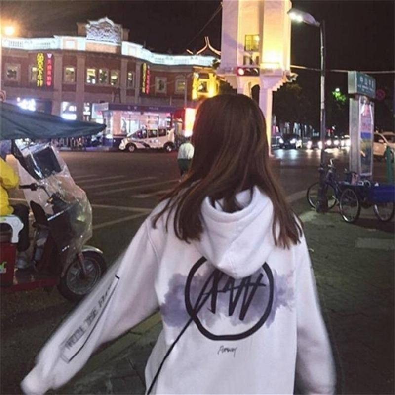 Autumn 2020 new fashion brand hooded net red guards women's thin coat Student Korean version of loose ins super hot