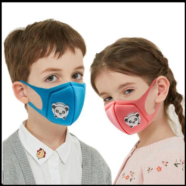 키즈 스폰지 얼굴 마스크 밸브와 만화 디자이너 마스크 럭셔리 빨 수있는 재사용 할 수있는 입 자형 마스크 먼지 PM2.5 방진 어린이 소년 소녀