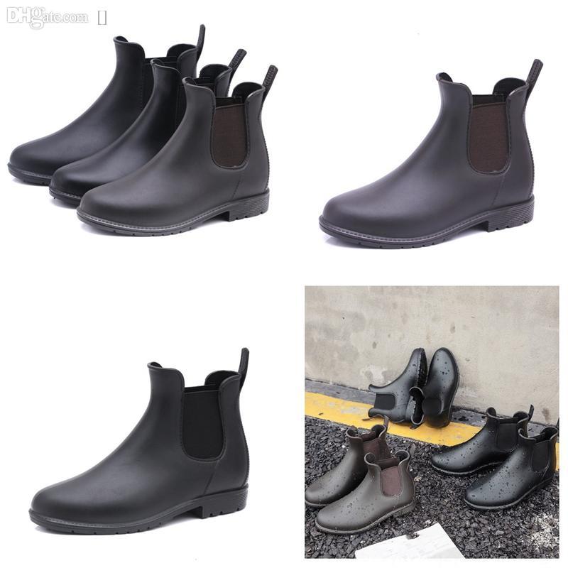 pkri5 frauen mode spezierte bis schwarz stiefelette dünne ferse erwachsene kurze regenstiefel mesh stiefel fransen tm design stiefel bestickt hohen rutsch