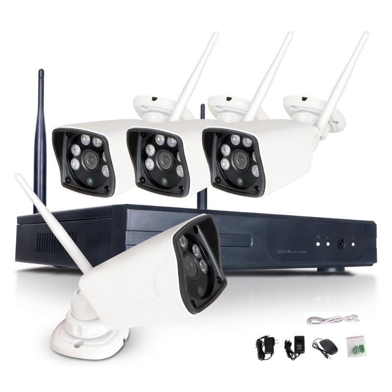 Kits de câmera sem fio CCTV WiFi System 5MP H.265 NVR Kit 4 pcs 5.0MP IR ao ar livre P2P IP Security HDCamera Surveilance