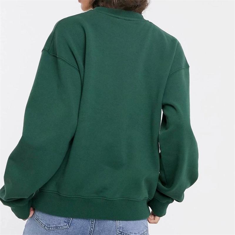 Fall Harajuku Print Women Sweatshirt Cropped Top Cute crewneck Long Sleeve Oversized Pullovers Winter Korean Hoodie Clothes 201202