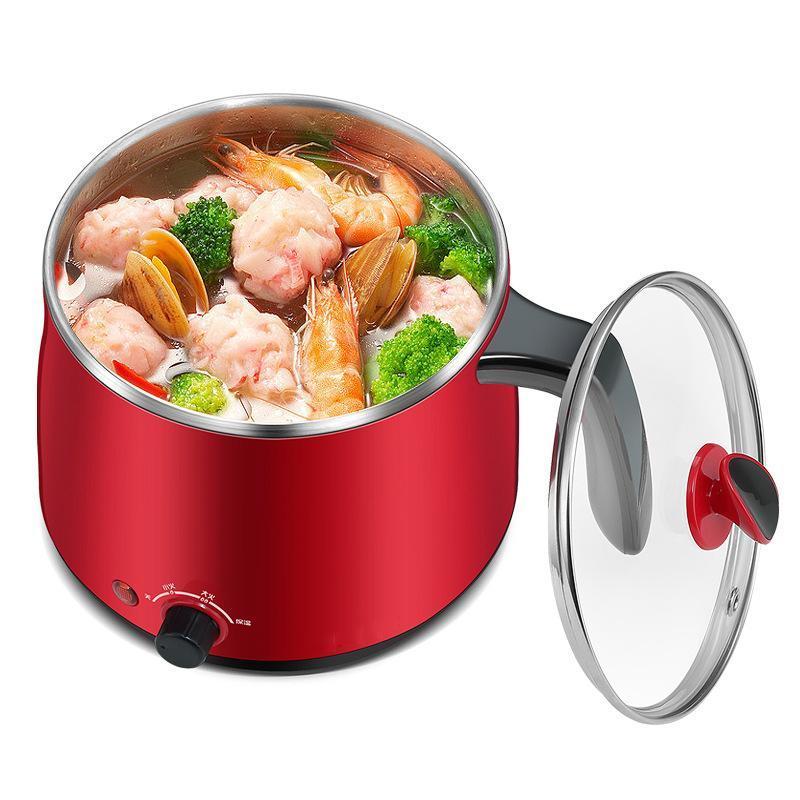 Frendas elétricas que cozinham a máquina vermelha da caldeira da água da cor vermelha da cor do pote 600W com vapor superior