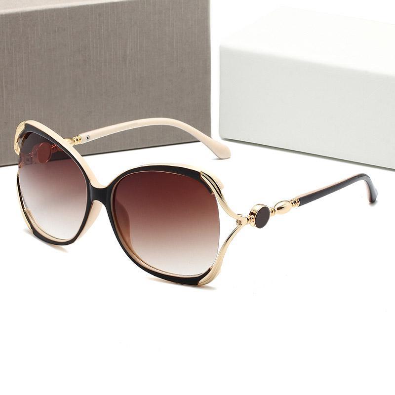 Occhiali da sole di alta qualità di lusso di lusso occhiali da sole moda mens occhiali da sole protezione UV Designer occhiali da vista in metallo cernellata in metallo cernellata per occhio nglasses con scatola originale 265