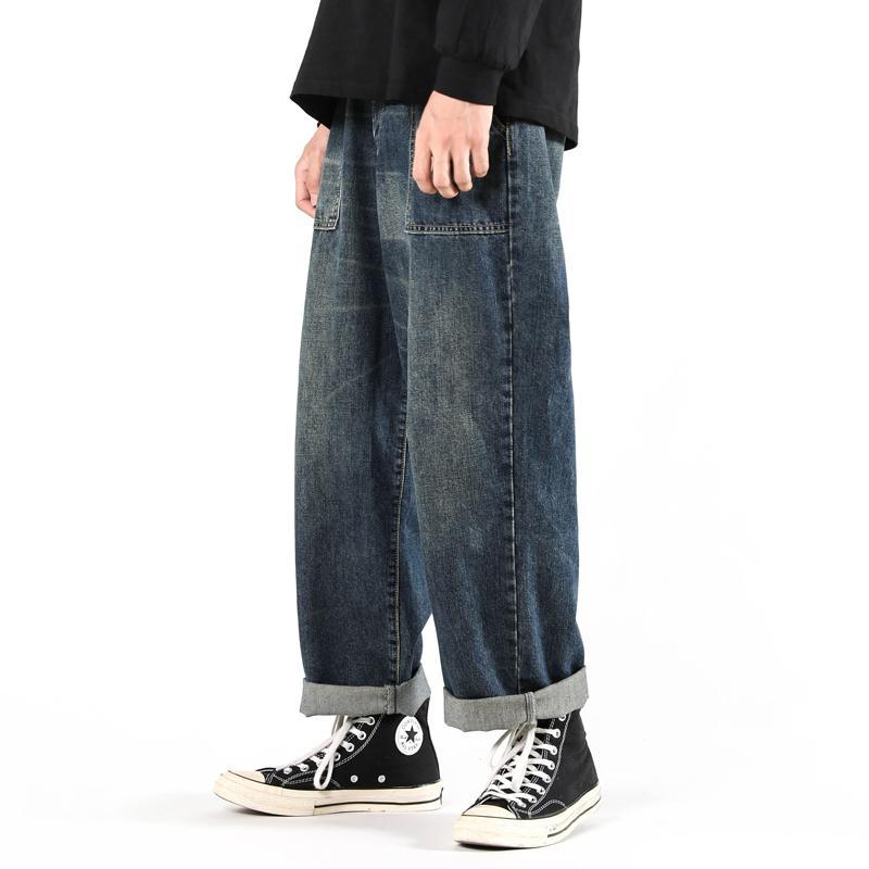 Pianning Свободная рабочая одежда Джинсы Осень зима Большой размер Мода Бренд Большой мужской и женские брюки прямые трубки Широкие штаны