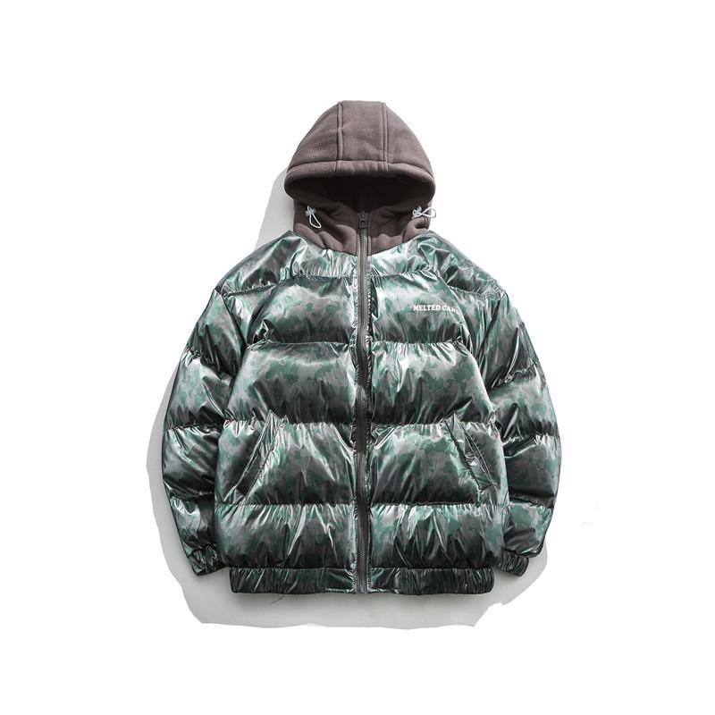 2020 Зимний Новый Хлопок Костюм, Прилив Бренд Хлебное платье, Камуфляжная печать, Цветное Совпадение, Хлопковые мягкие Мужские Куртки Пальто